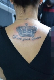 一组关于霸气女王的人物肖像纹身图案