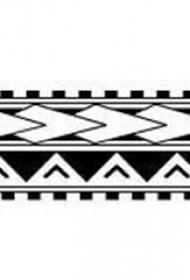 黑色线条素描几何元素创意纹身手稿