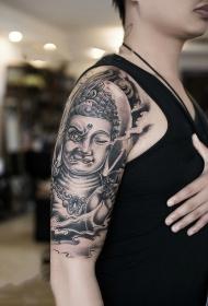 手臂一念成佛一念成魔肖像纹身图案