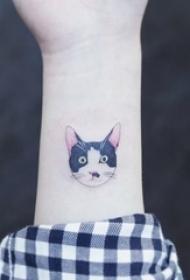 一组关于动物的彩绘文艺小清新小图案纹身图案