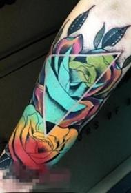9款娇艳的彩绘技巧植物素材花朵纹身图案