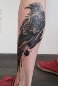 多款关于鸟类的黑色素描轮廓创意个性纹身图案