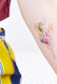 多款女生喜欢的精致小巧几何线条小清新纹身图案