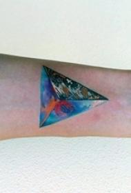 多款创意的彩绘技巧几何元素线条纹身图案