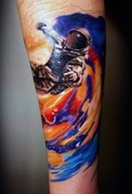 多款绚丽多彩的彩绘技巧创意星空纹身图案