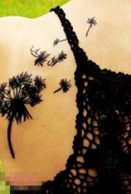 多款关于蒲公英的创意个性文艺小清新唯美纹身图案