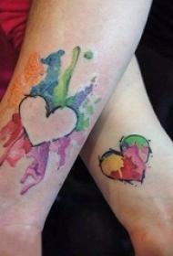 多款关于情侣的简单个性线条创意匹配纹身图案