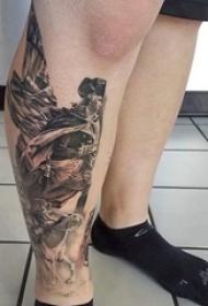 新颖又极具创意的素描技巧华盛顿肖像纹身图案
