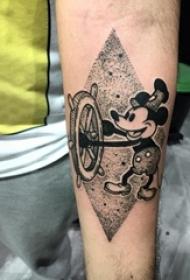 十分经典的创意迪士尼彩绘水彩可爱卡通纹身图案