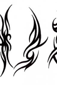黑色线条素描描绘的创意霸气别致图腾纹身手稿