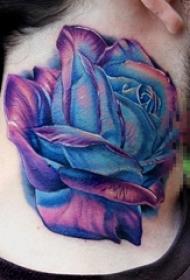 多款脖子上的创意设计感十足的纹身图案