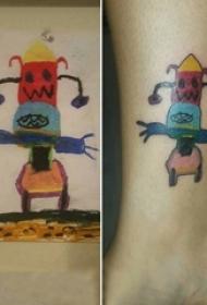 女生脚踝上彩绘渐变简单抽象线条卡通纹身图片