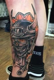 多款创意独特的霸气摩托车元素纹身图案