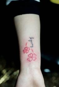 多款女生简单小清新纹身图案