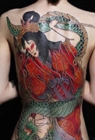 多款彩绘水彩素描创意霸气精致日本元素图腾纹身图案