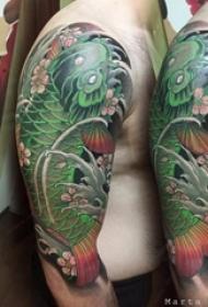 多款霸气精致的创意日本经典元素锦鲤纹身图案