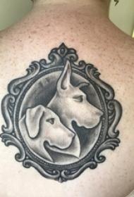 男生手臂上彩绘水彩素描霸气抽象老虎纹身图片