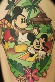 多款彩绘水彩素描文艺可爱经典迪士尼卡通纹身图案