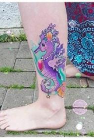 多款彩绘水彩素描创意精致文艺唯美纹身图案