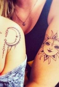 朋友之间友谊见证纹身图案