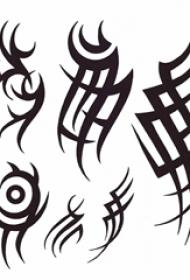 多款黑色线条几何元素创意经典图腾纹身手稿
