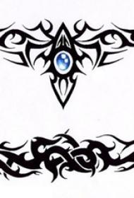 黑色线条素描文艺唯美图腾纹身手稿