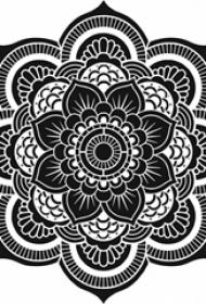 多款黑色线条素描文艺唯美经典梵花纹身手稿