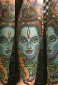 恐怖人物纹身男生手臂上恐怖人物纹身图片
