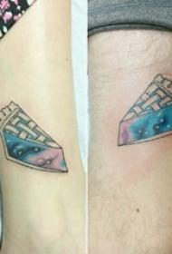情侣纹身情侣手臂上星空纹身图片