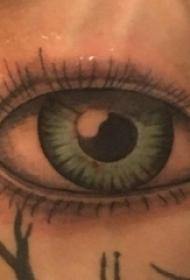 手臂纹身素材 男生手臂上彩色的眼睛纹身图片