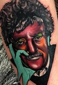 人物肖像纹身 男生手臂上人物肖像纹身经典图案