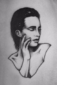多款黑灰素描点刺技巧创意经典抽象霸气纹身图案