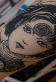 女生人物纹身图案 男生手臂上女生人物纹身图案
