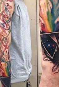 欧美抽象纹身 男生手臂上欧美抽象纹身图片