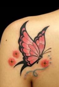优美艺术蝴蝶纹身图片