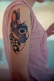 可爱卡通手臂图案纹身