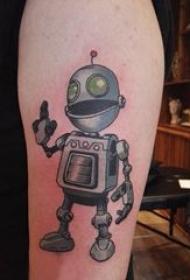 机器人纹身 男生手臂上彩色的机器人纹身图片