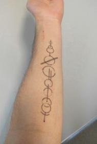 几何元素纹身 男生手臂上简单的几何纹身图片