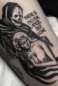 多款黑灰素描点刺技巧经典文艺纹身图案