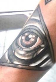 眼睛纹身 男生手臂上眼睛纹身图片