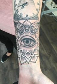 梵花纹身 男生手臂上梵花纹身和眼睛纹身图片