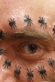 眼眶创意脸部纹身