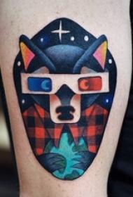 百乐动物纹身 男生手臂上另类的动物纹身图片