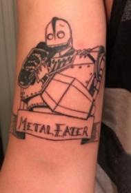 机器人纹身 男生手臂上黑色的机器人纹身图片