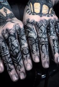 黑灰纹身 多款简单线条纹身素描经典纹身图案