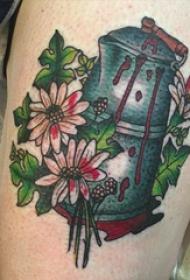 彩绘纹身 多款彩绘纹身素描水壶纹身图案