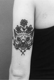 简单线条纹身 多款简约线条纹身黑色经典纹身图案
