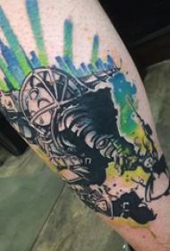 机器人纹身 多款素描纹身机器人纹身图案