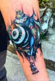 彩绘纹身 多款彩色纹身素描经典纹身图案