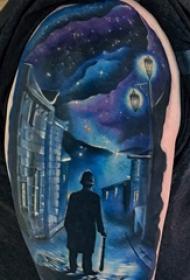 彩绘纹身 男生手臂上彩绘纹身图片